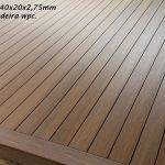 Deck madeira plastica cor cumaru