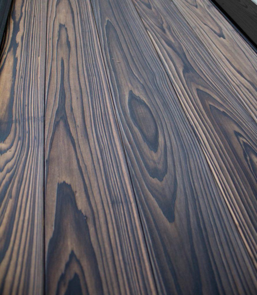Painel de Madeira Carbonizada cor claro